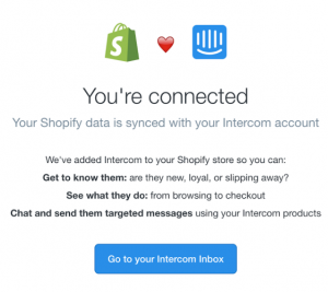 shopify_intercom livechat interface