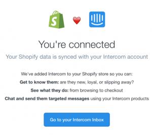 shopify_intercom livechat interface