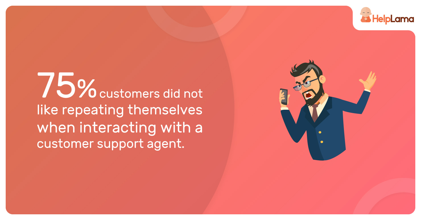 75%-customers-did-not-like-repeating-themselves